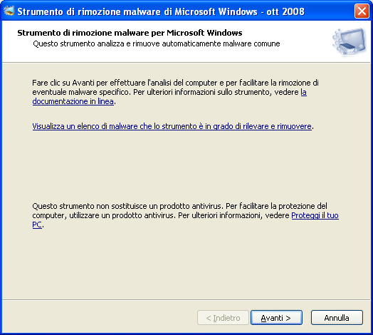 Strumento Rimozione Malware