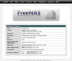 FreeNAS Configurazione
